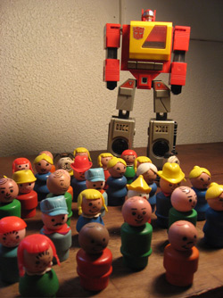 Transformers and Fisher Price Little People